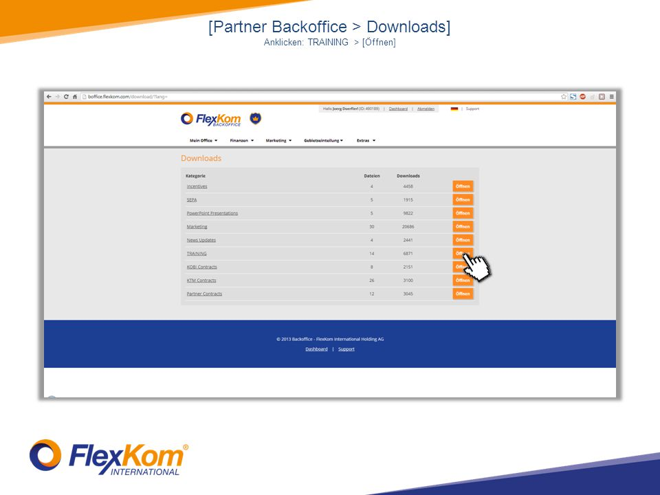 [Partner Backoffice > Downloads]